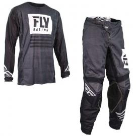 FLY 19.5 NOIZ MESH JERSEY AND PANT COMBO BLACK WHITE