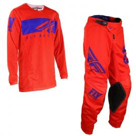 FLY 19.5 SHIELD MESH JERSEY AND PANT COMBO RED BLUE
