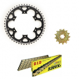 RM450Z 2006-2012 DID VX3 GOLD X-RING CHAIN AND BLACK TALON SPROC