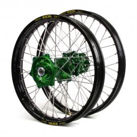 KAWASAKI EXCEL/TALON WHEEL SET BLK/GREEN