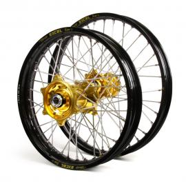 HUSQVARNA EXCEL/TALON WHEEL SET BLK/GOLD