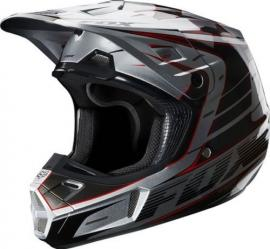 FOX V2 RACE HELMET SILVER