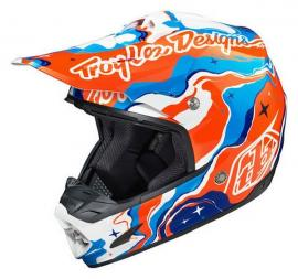TLD 2015 SE3 HELMET GALAXY BLUE ORANGE