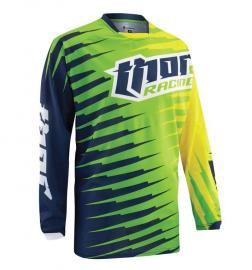 THOR JERSEY S15 PHASE VENTED LIME