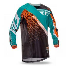 FLY 2016 KINETIC JERSEY TRIFECTA BLACK/TEAL