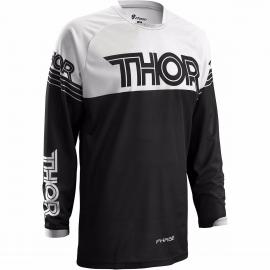 THOR S16 PHASE JERSEY HYPER BLACK