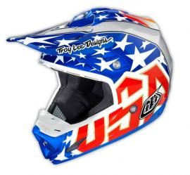 TLD 2015 SE3 HELMET 3X JEFF WARD BLUE