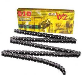 DID 520 VX2 X-RING CHAIN BLACK 120-LINK