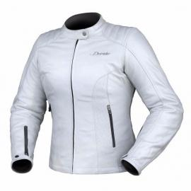DRIRIDER PARIS WOMENS LEATHER JACKET PEARL WHITE