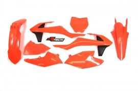 RTECH PLASTIC KIT KTM 350SXF 2016-2017 NEON ORANGE
