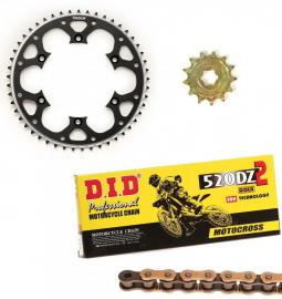 CR125R DID RACE CHAIN AND RED TALON SPROCKET KIT