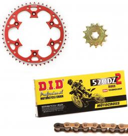 CR250R DID RACE CHAIN AND RED TALON SPROCKET KIT