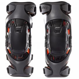 POD K1 GREY/ORANGE KNEE BRACES PAIR