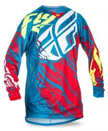 FLY 2017 KINETIC RELAPSE JERSEY YOUTH TEAL/RED