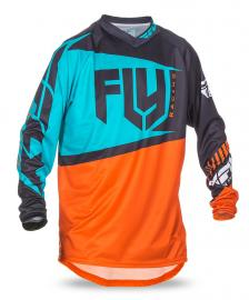 FLY 2017 F-16 JERSEY YOUTH ORANGE/TEAL