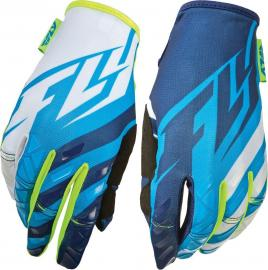 FLY 2015 KINETIC YOUTH GLOVE HIVIS/BLUE