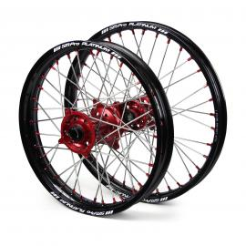 SM PRO HONDA CRF250R BLACK/RED WHEEL SET