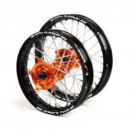 SM PRO KTM 65SX WHEEL SET BLACK/ORANGE