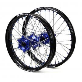 SM PRO HUSQVARNA TE250 2ST BLACK/BLUE WHEEL SET