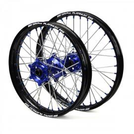 SM PRO HUSQVARNA TE300 2ST BLACK/BLUE WHEEL SET