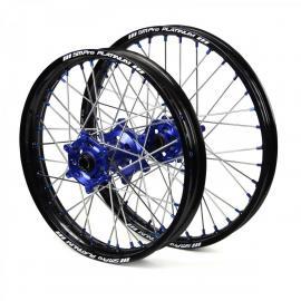 SM PRO HUSQVARNA FE250 4ST BLACK/BLUE WHEEL SET