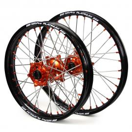 SM PRO KTM 250EXC BLACK/ORANGE WHEEL SET