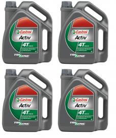 CASTROL ACTIV 4T 15W50 4-LITRE ENGINE OIL BOX OF 4