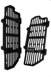 FORCE BILLET RADIATOR GUARDS KTM 350EXC-F 2017 BLACK