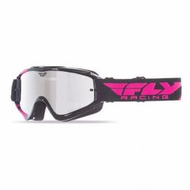 FLY ZONE GOGGLE BLACK/PINK CHROME LENS