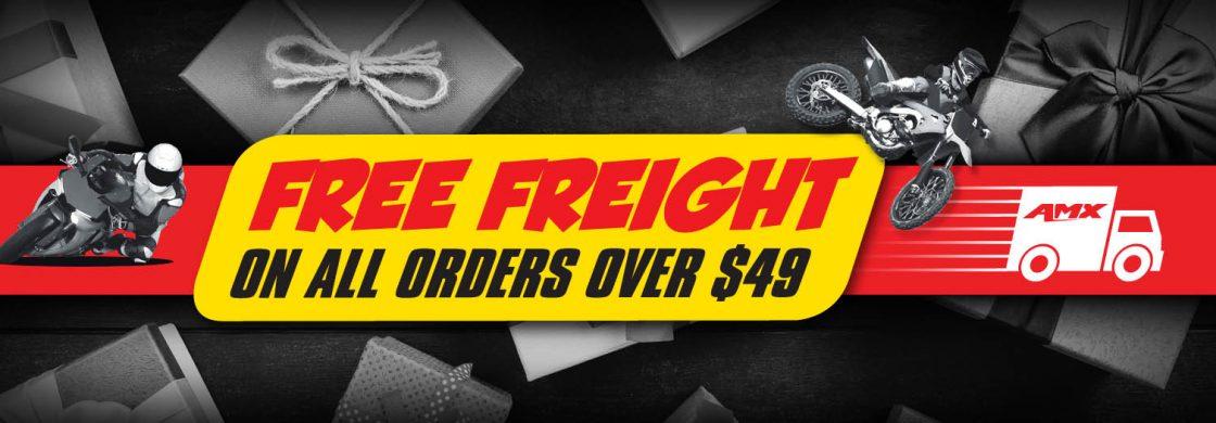 FREE FREIGHT $50