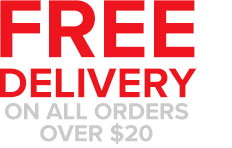 Free Freight: Australia-Wide On All Orders Over $20